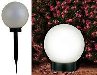 Solarkugel 15 Cm Mit 2 Leds - Gartenkugel Led Kugel Solarleuchte Gartenlampe Neu