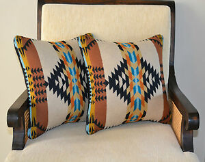 Southwestern Pillow Shams : Pillow Covers Shams Southwestern home decor handcrafted of Pendleton Wool fabric eBay