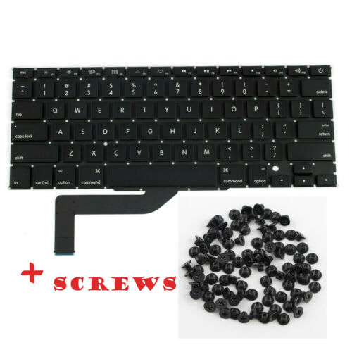 "New US KEYBOARD for MacBook Pro Retina 15"" A1398 2012 2013 2014 2015 Screws"