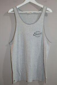 Elwood-Brand-Men-039-s-Striped-Branded-Logo-Singlet-Tank-Size-M-AN02