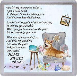 Corgi-Pembroke-Dog-Coaster-034-HOME-SWEET-HOME-Poem-034-Novelty-Gift-by-Starprint