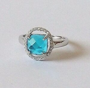 925-STERLING-SILVER-BLUE-TOPAZ-size-N1-2-or-P1-2-everyday-wear
