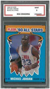 1990-91-Fleer-All-Stars-5-of-12-MICHAEL-JORDAN-BSG-9-Mint