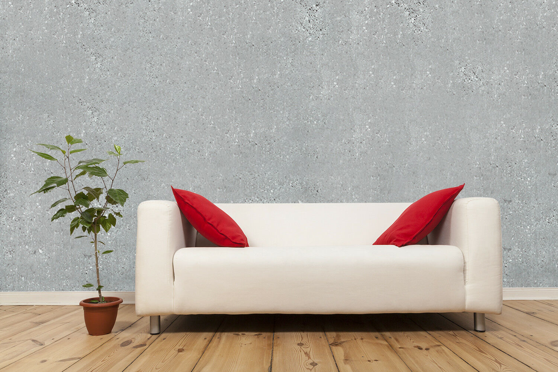 Fototapete Betonwand Loftwand Grau Textur - Kleistertapete oder Selbstklebende