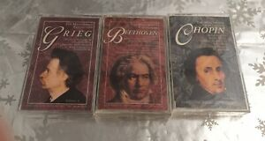 ❤️Lot of 3 Classical Music Cassette Tapes NEW IN FACTORY SEALED PACKAGING