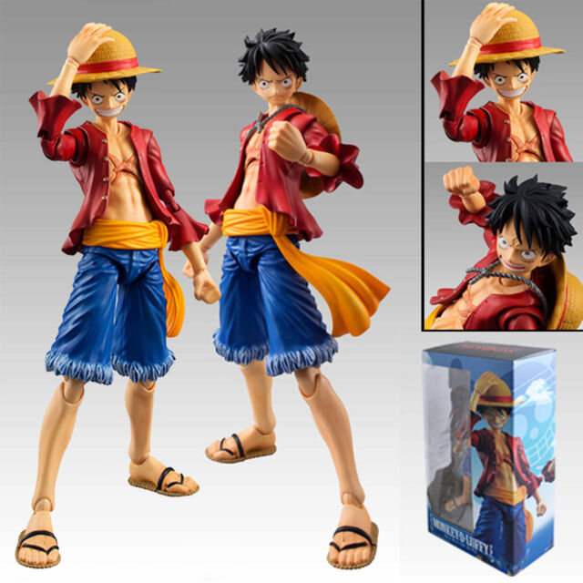 "One Piece Monkey D Luffy The New World 18cm/7"" PVC Action Figure Toy Doll In Box"