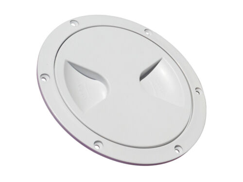 "WHITE PLASTIC ACCESS ROUND INSPECTION HATCH 4/"" 144MM Boat Motorhome"