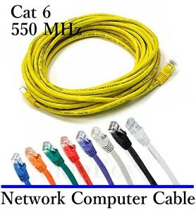 25 Foot Cat6 Ethernet Network Patch Cable For Computer