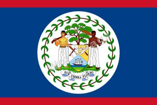 National drapeau BELIZE DRAPEAU 3X2FT 5X3FT 6X4FT 8X5FT 100D Polyester Bannière