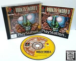 Broken-Sword-II-Sony-Playstation-ps1-Black-Label-Spiel-ausgezeichnete-komplett