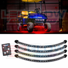 4pc LEDGLOW RED LED GOLF CART KART LED UNDERGLOW NEON LIGHT KIT 12 VOLT POWERED