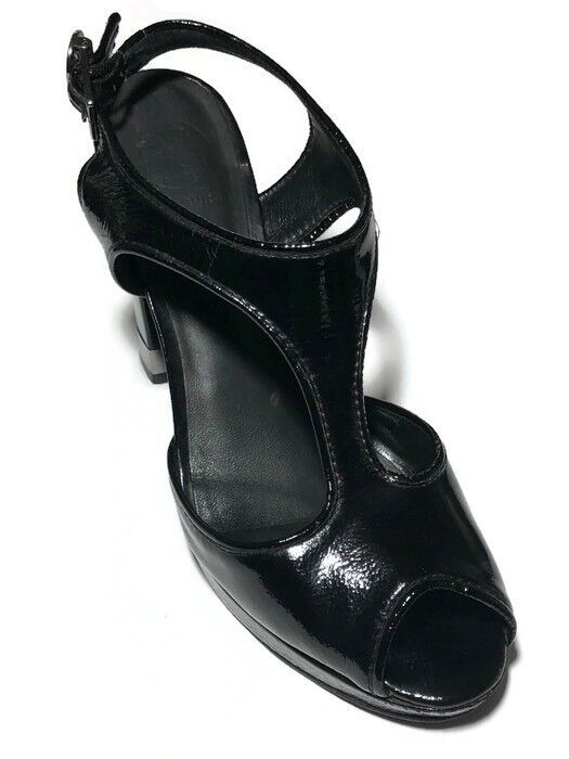 negozio outlet Tory Burch donna donna donna nero Patent Leather Open Toes Strap Pumps - Dimensione 9.5 M  bellissimo