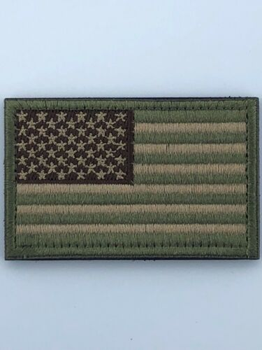 """USA American Flag Patch 2/"""" x 3/"""" Hook /& Loop Choice Military Tactical BEST VALUE"""