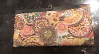 Femina Women's Floral Multicolored Accordion Wallet