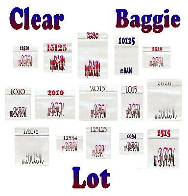 12534 Original Mini Plastic Bags Reclosable 2.5Mil Purple Bulk