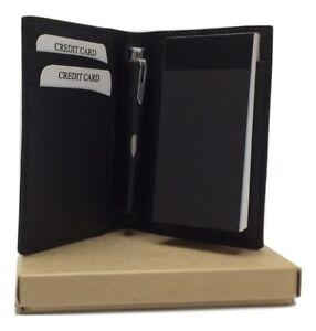 NERA-PELLE-BLOCK-NOTES-scatola-regalo-personalizzate-con-il-tuo-testo-amp