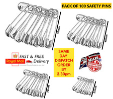 120 Safety Pins Silver Assorted Size Small Medium Large Sewing Craft Wedding