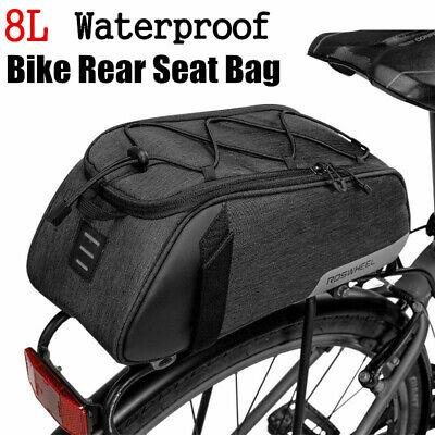 Roswheel Bike Rear Carrier Bag Waterproof Bicycle Rack Pack Bag Trunk Pannier 8L