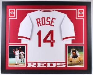 7f385f359 Pete Rose Signed Cincinnati Reds 35x43 Custom Framed Jersey (JSA COA ...