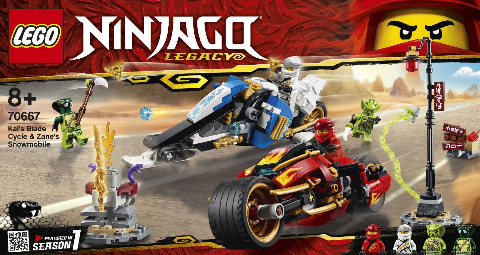 Lego Ninjago 70667 - Quay Feuer-Bike & Zanes Snowmobile, Nip