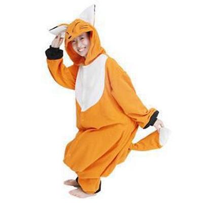 NEW,Original Onesie Animal Adult Kigurumi Fox Cosplay Costume Party Pajamas