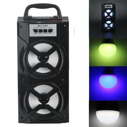 Double Horn Multimedia Bluetooth Wireless Handhled  Speaker USB//TF//AUX//FM Radio