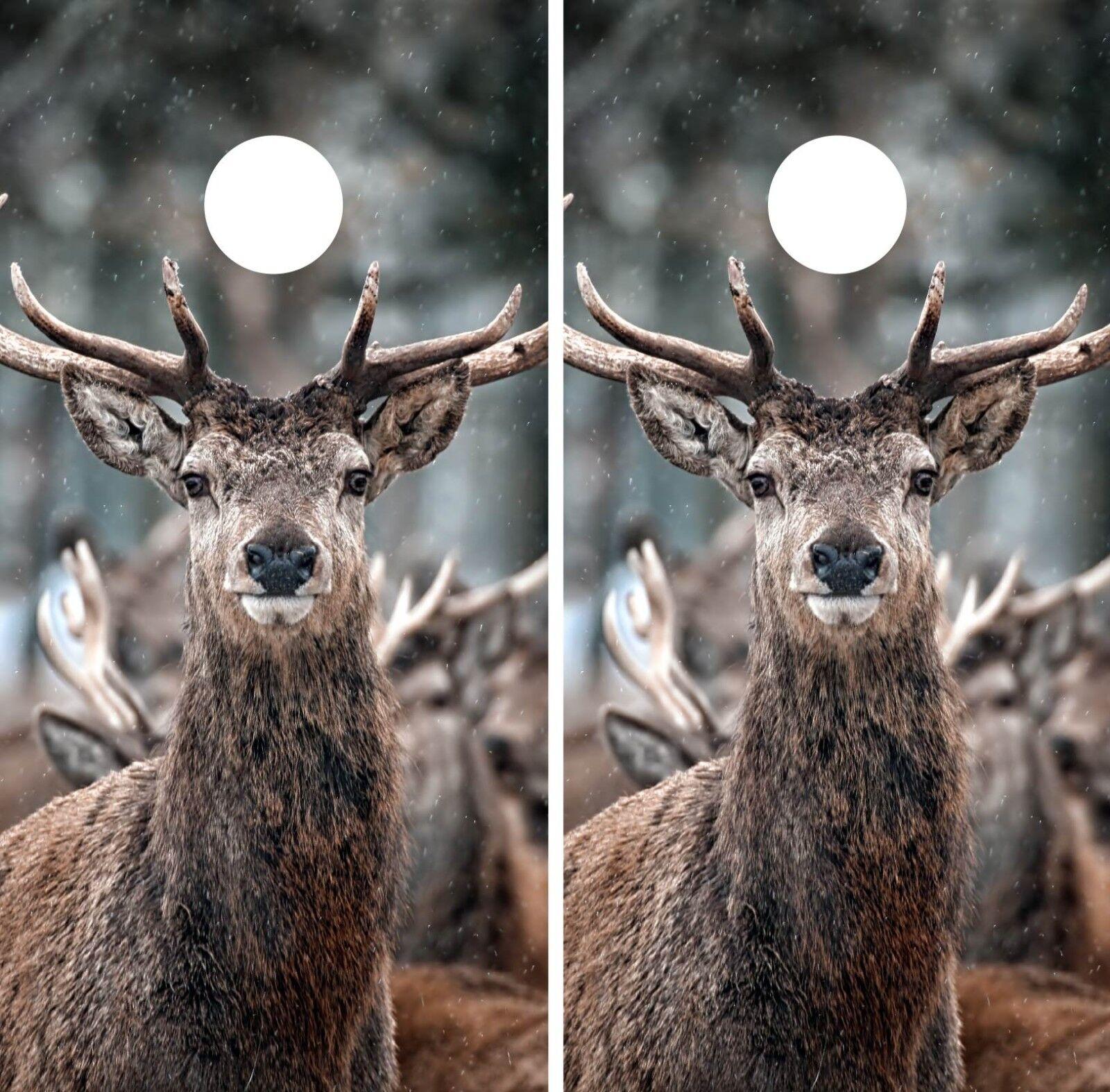Deer Cornhole Hunting Camouflage Wrap Game  Board Skin Set Vinyl Art Decor CO169  new style