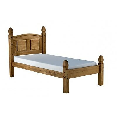 Corona Mexican Style Solid Pine 3ft Single Low Foot Bed Frame