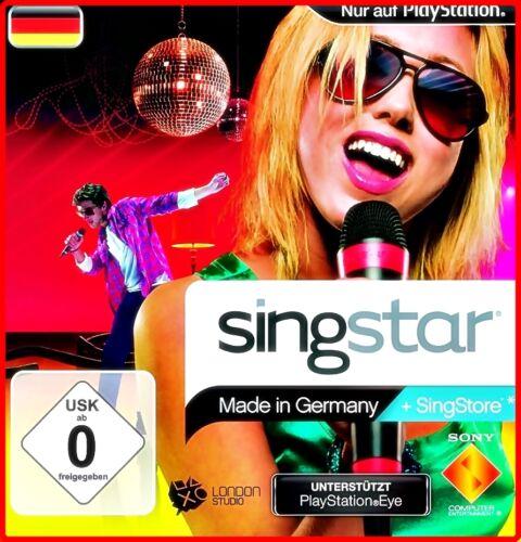 1 von 1 - PS2 SINGSTAR: Disney, Schlager, Sing It, Deutsch, Rock, Pop; Ballads, ABBA; 80 S