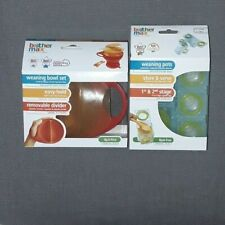 Brother Max Baby Gift Bundle Easy Hold Bowls and Catch /& Fold Bibs 4 Months Up