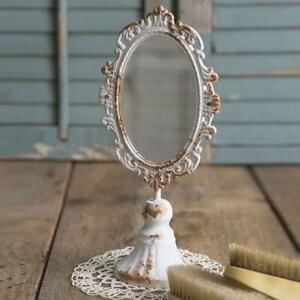 Victorian Tabletop Mirror Vanity Vintage Rustic Look