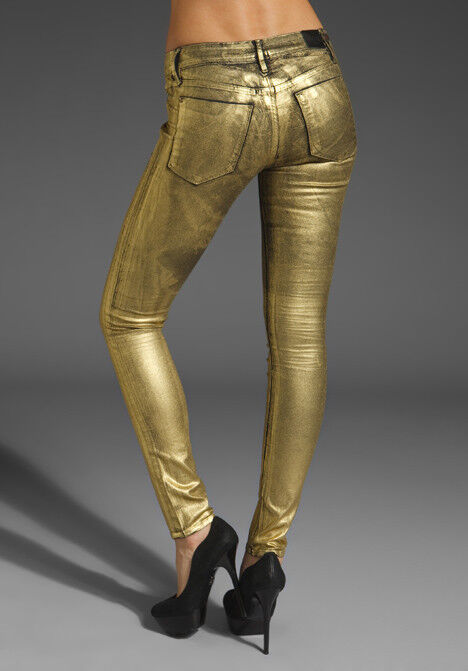 Sinclair Jeans gold Skinny The Fix Jeans Distressed gold Leg Zipper
