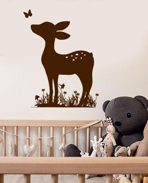 Vinyl Wall Decal Fawn Deer Animal Nursery Baby Room Stickers (ig3696)