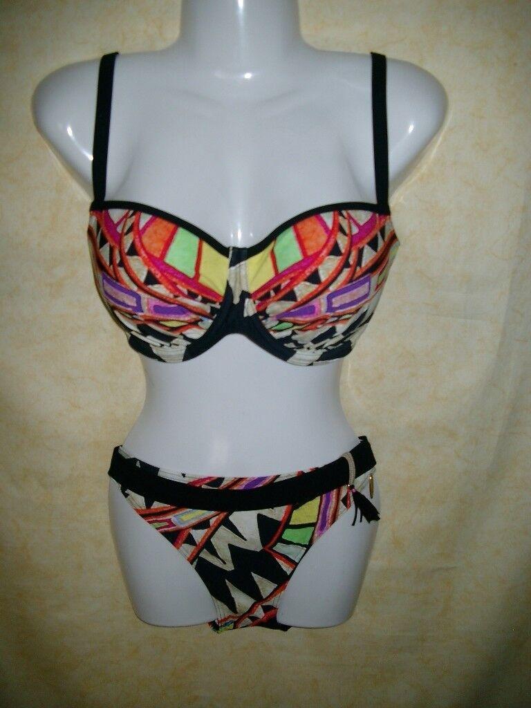 Bikini Bikini Bikini gemustert mit Bügel UV-Schutz von SUNFLAIR Gr.38 Cup F - NEUWARE | Hohe Qualität  | Zuverlässige Leistung  | Ausreichende Versorgung  | Shopping Online  | Moderne Muster  b11485