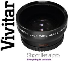 HD WIDE ANGLE  WITH MACRO LENS FOR CANON VIXIA HV40