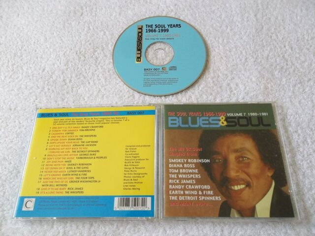 VARIOUS - Blues & Soul, The Soul Years 1966-99 Volume 7 1980-1981, CD Album 2001