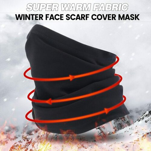 Details about  /Black Winter Neck Warmer Gaiter Scarf Fleece Snowmobile Motorcycling Ski Cover