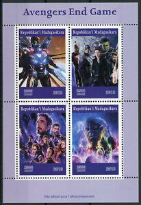 Livraison Rapide Madagascar 2019 Cto Avengers Issue Thor Captain America Hulk 4 V M/s Timbres-afficher Le Titre D'origine