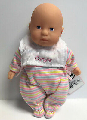 "Corolle Vintage Mini Baby Doll Toy 8/"" Les Minis Striped PJ w//Bib NEW w//TAG"