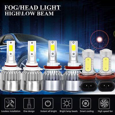 6X COB LED Headlight+Fog Light Kit For GMC Terrain 10-15 HID White 6000K Bulbs