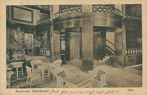 Ansichtskarte-Karlsruhe-Schlosshotel-Halle-1920-Nr-846