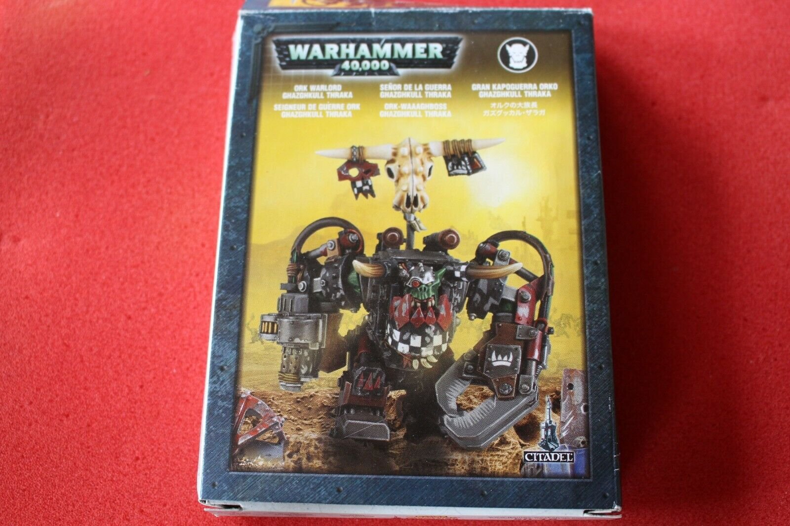 giocos lavoronegozio WARHAMMER 40k Ghazghkull Thraka Orks Warboss  In Mettuttio cifra GW fuori catalogo  best-seller