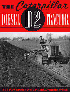 Caterpillar D2 Diesel 3J  Sales Book 1939