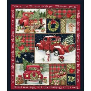 Fun-36x44-Panel-Snowman-Gifts-Snow-Cotton-Fabric-Pumpkin-Car-Pattern-Gift