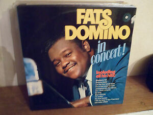"""2 LP 12 """" FATS DOMINO - In concert - NM/MINT - NEUF - MERCURY 6641 537 - HOLLAND"""