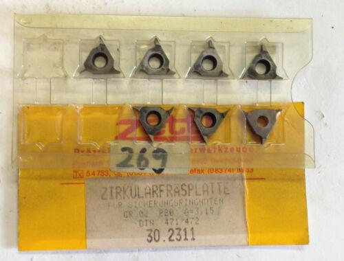 7 Zirkularfräsplatten GR.02 P20 A=3,15 ZETTL neu T538