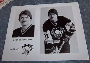 new product 88b08 46b47 Details about Pittsburgh Penguins Hockey Player photo 1979 - 1980 George  Ferguson