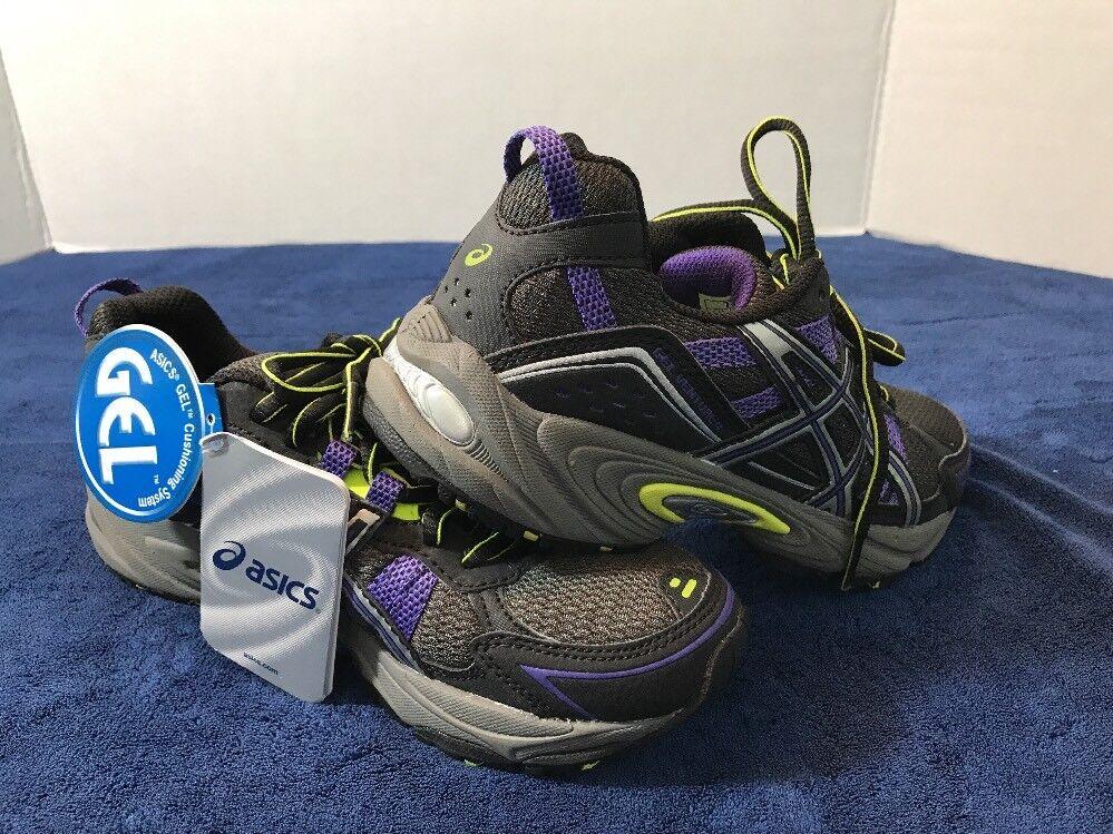 ASICS GEL VENTURE 4 Womens US 6  EUR 37 Running shoes Black Purple Lime T383N
