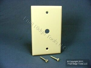 "4 Leviton White Phone Cable Wallplate Telephone Cover Plates .406/"" Hole 88013"