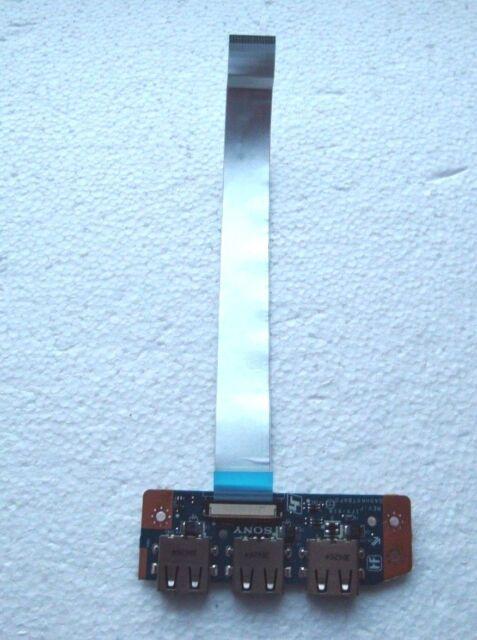 Sony Vaio SVE151 SVE151J13M Triple USB Port Board + Cable DA0HK6TB6F0